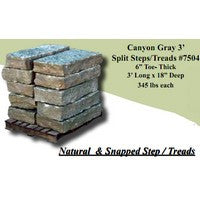 Canyon Gray 3ft Split Step (per piece) #7504