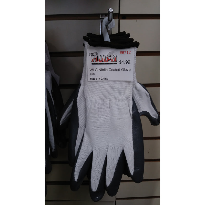 WLG Nitrile Coated Glove Med #-57
