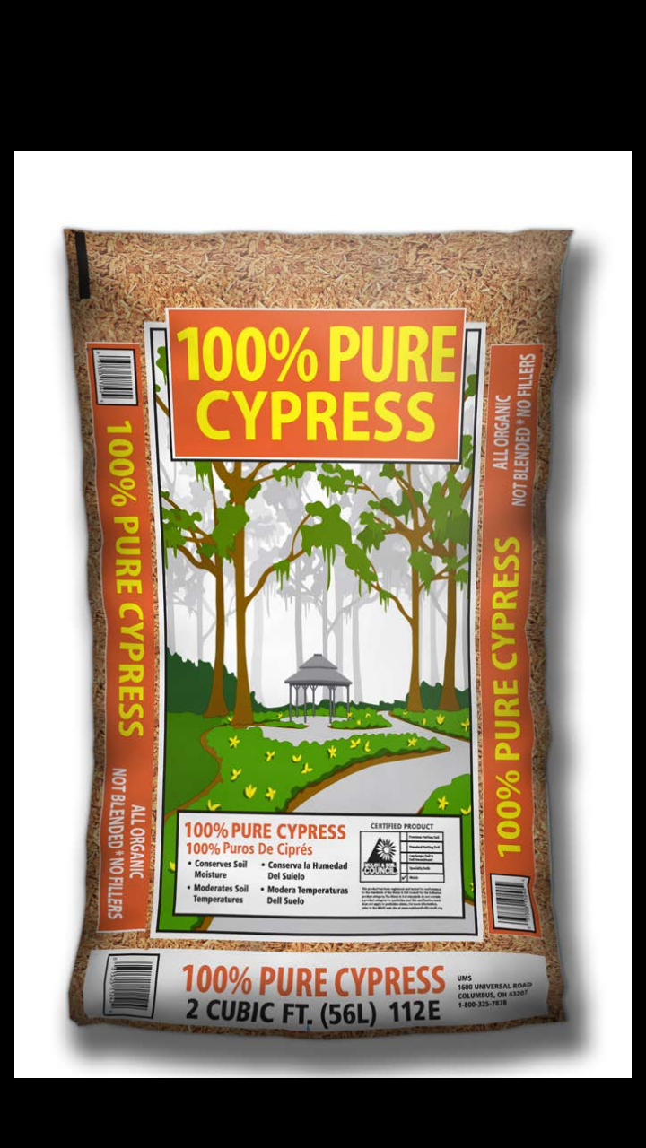 ESTATE CYPRESS MULCH 100% pure Cypress (2.0cu ft) #112E
