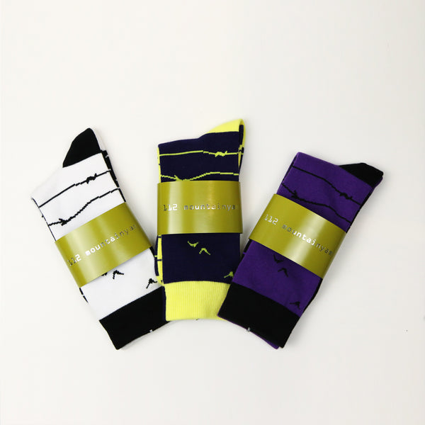 Bird Strip Socks