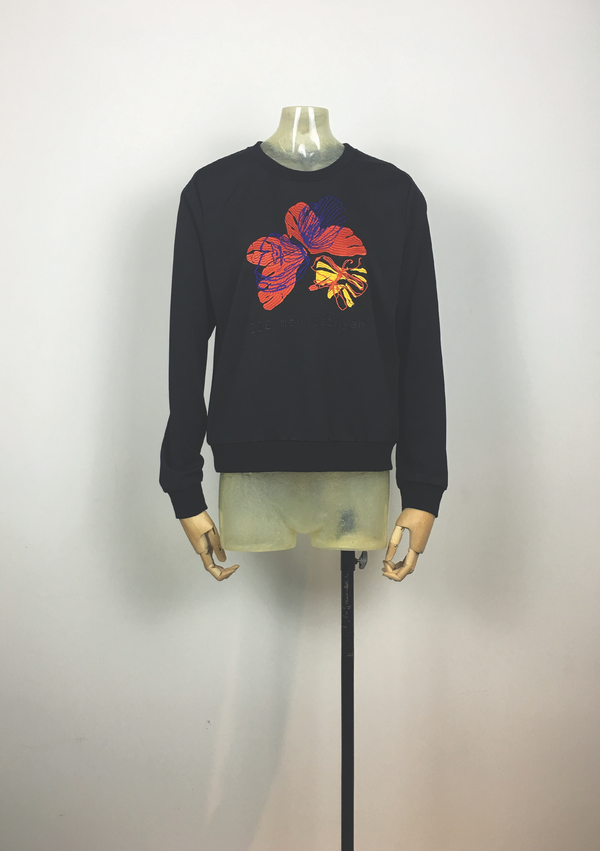 Butterfly Embriodery Sweatshirt