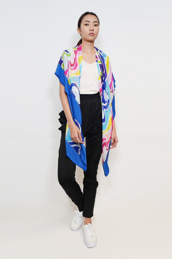 Love Wave Print Scarf