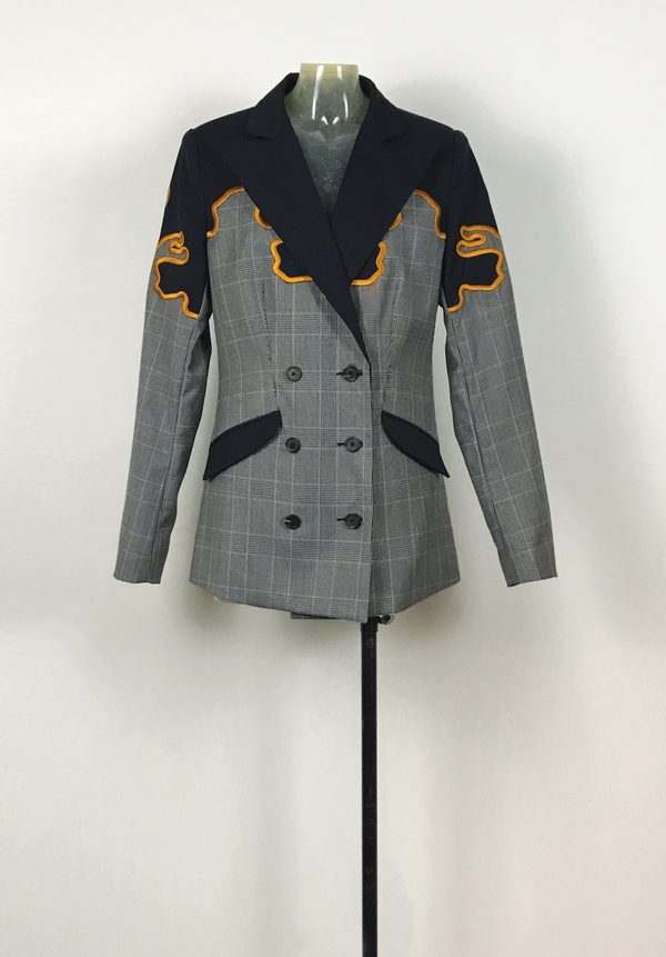 3D Embroidery Wool Patch Blazer