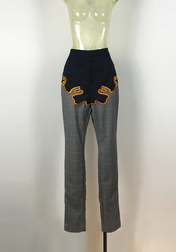 3D Embroidery Wool Patch Pants