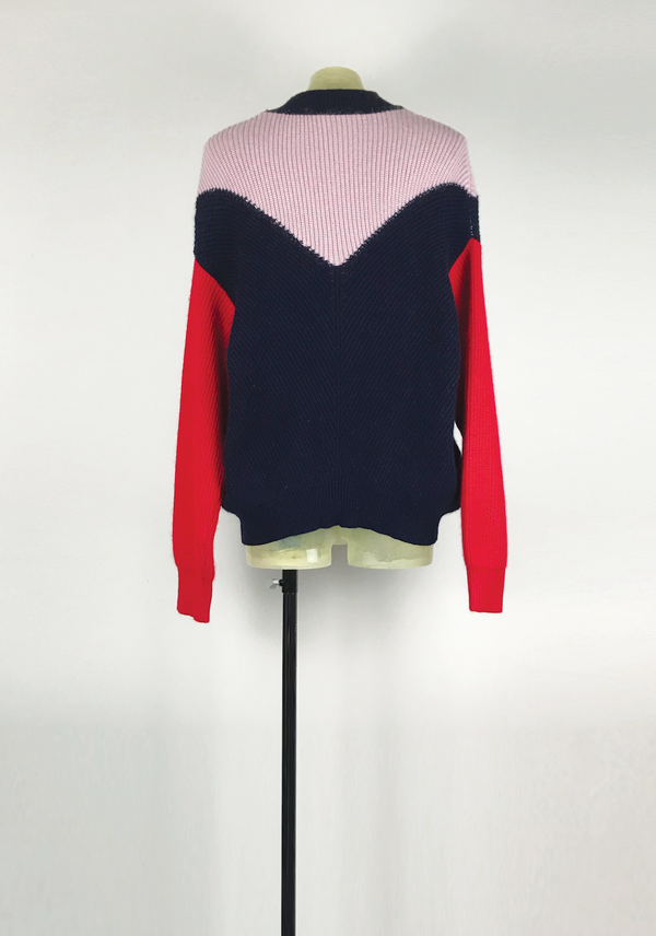 Color Blocking Knit Sweater