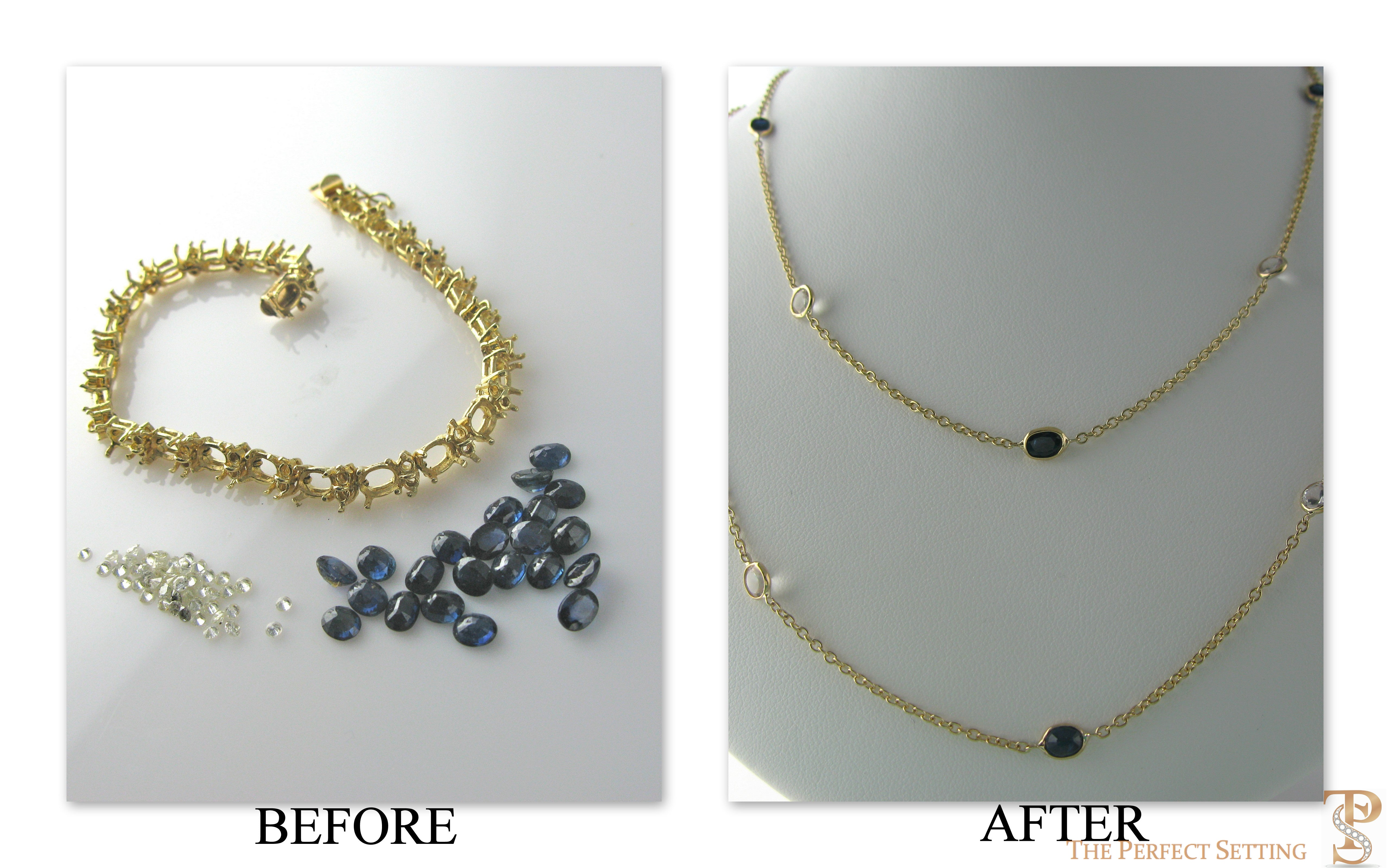 Photos of Restyled Jewelry Resettings by Amy Certilman of The