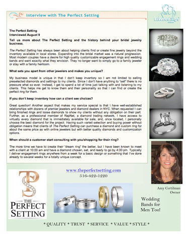 LI Weddings Interview with Amy Certilman