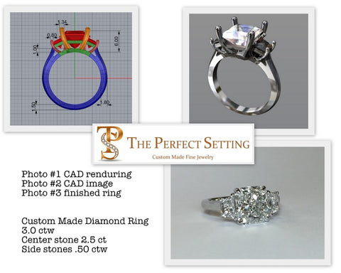 Custom Design Process Radiant Cut Diamond Ring