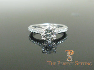 1.3 ct diamond engagement ring with diamond band