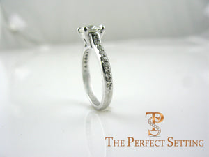 diamond engagement ring with diamond side stones