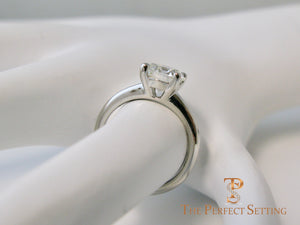 1.70 ct diamond solitaire engagement ring finger