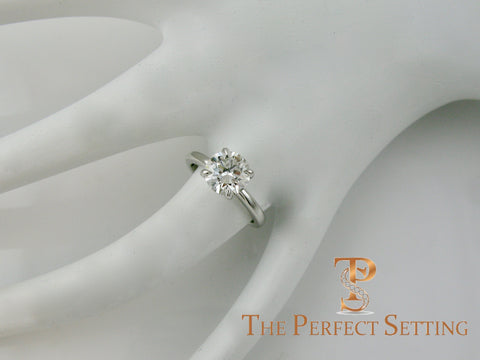 Classic Round GIA Certified Diamond Engagement Ring