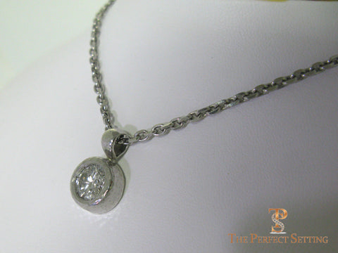 Heavy Bezel-Set Diamond Necklace