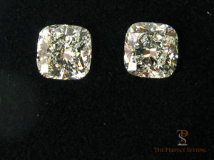 Cushion cut diamond earrings