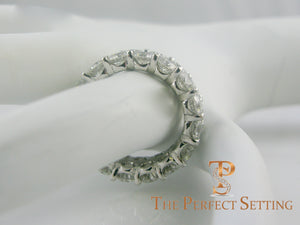 double 2 row diamond eternity band