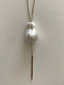 Baroque Pearl Slide Necklace