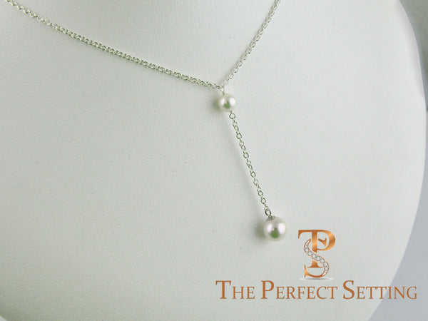 Akoya Pearl Lariat Necklace
