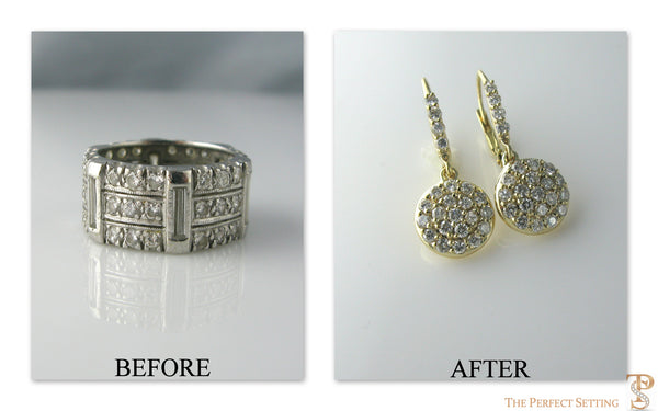 Before and After Photos unworn diamond wedding ring
