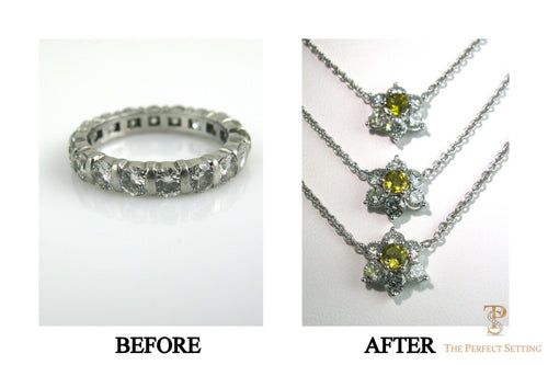 Resetting - Unworn Eternity Band into Mother Daughter Necklaces