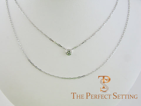 Bezel Set Diamond on Fancy Chain