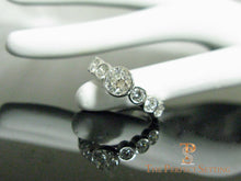Load image into Gallery viewer, Bezel Set Diamond Wedding Band Seven Stones 7 finger