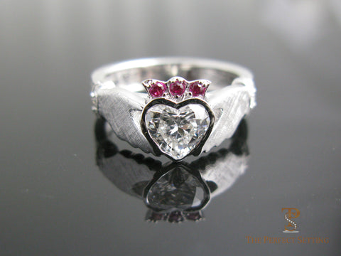 Claddagh Celtic Knot Diamond Ring