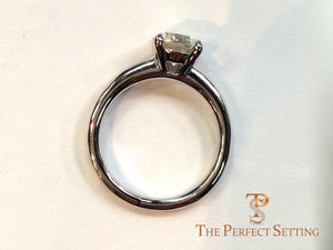 Classic 4 prong engagement ring side view
