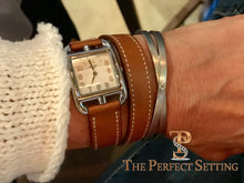 Load image into Gallery viewer, criss cross cuff stacking love bracelet hermes watch