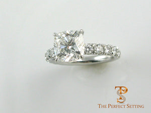 2.03 ct cushion cut diamond ring