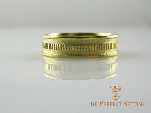 mens gold gear ring
