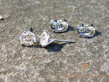 Load image into Gallery viewer, diamond studs with jumbo back