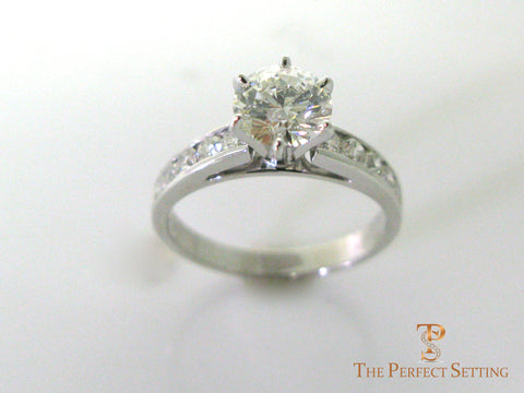 Diamond engagement ring channel setting 1