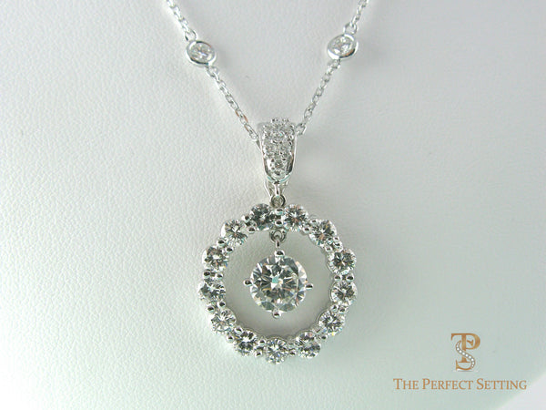 Diamond Pendant with Enhancer or diamond necklace