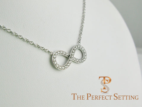 Diamond Infinity Necklace