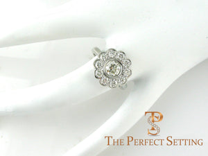 Edwardian Diamond Flower Cluster Ring