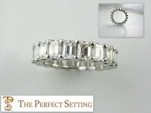 5 ctw emerald cut diamond eternity band
