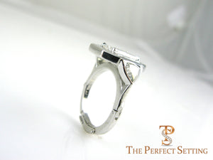 Adjustable Platinum Shank Wedding Band Arthritis