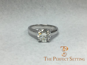 trellis custom platinum setting engagement ring
