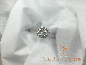 trellis custom platinum setting engagement ring top