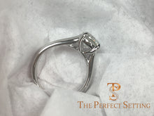 Load image into Gallery viewer, trellis custom platinum setting engagement ring