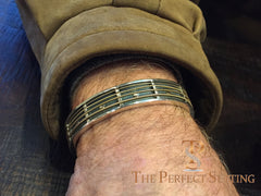 guitar string bracelet cuff for men