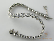 Load image into Gallery viewer, Bezel set diamond tennis bracelet