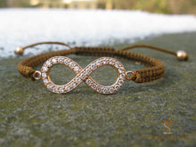 Load image into Gallery viewer, Diamond Infinity Bracelet Rose Gold