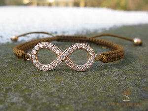 Diamond Infinity Bracelet Rose Gold