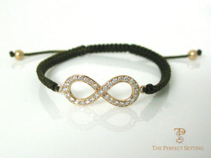 Yellow Gold Diamond Infinity Bracelet