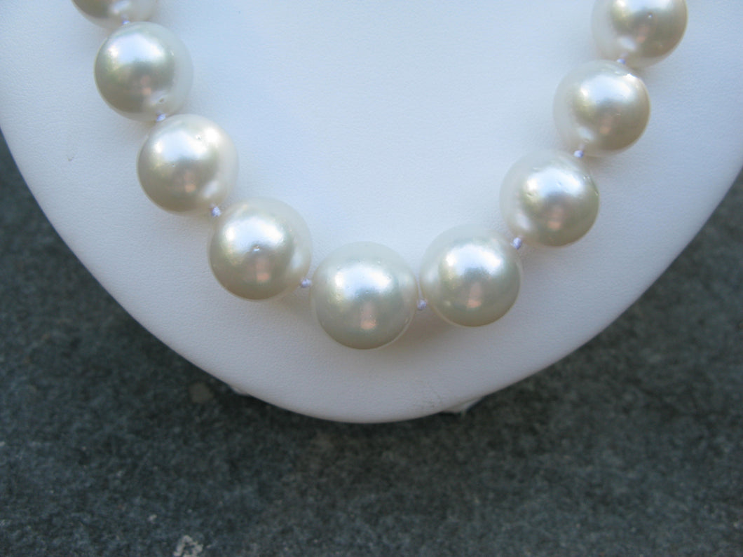 Jumbo South Sea Cultured Pearl Necklace
