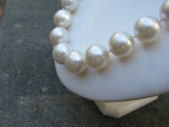 Jumbo South Sea Cultured Pearl Necklace side view
