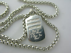 Iron Man Sterling Silver necklace back