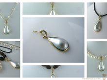 Load image into Gallery viewer, Mabe Pearl and Gold Pendant Versatile