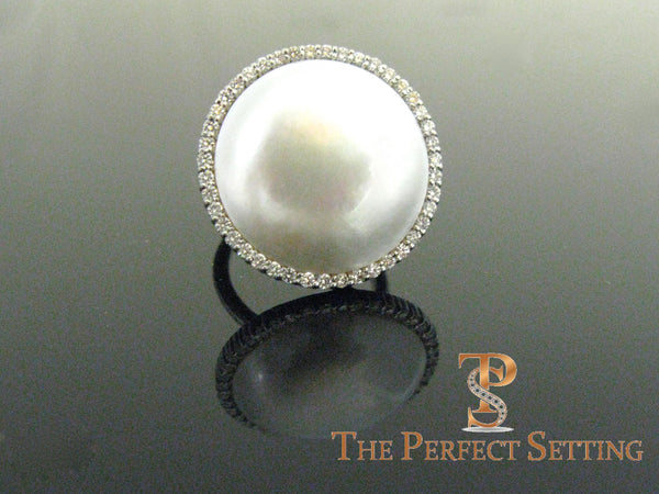 Mabe Pearl And Diamond Cocktail Ring The Perfect Setting